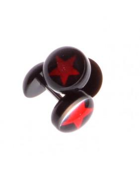 Faux plug étoile rouge