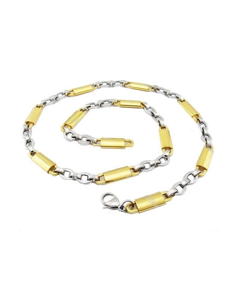 Collier argent et or