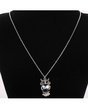 Collier pendentif Owl's heart