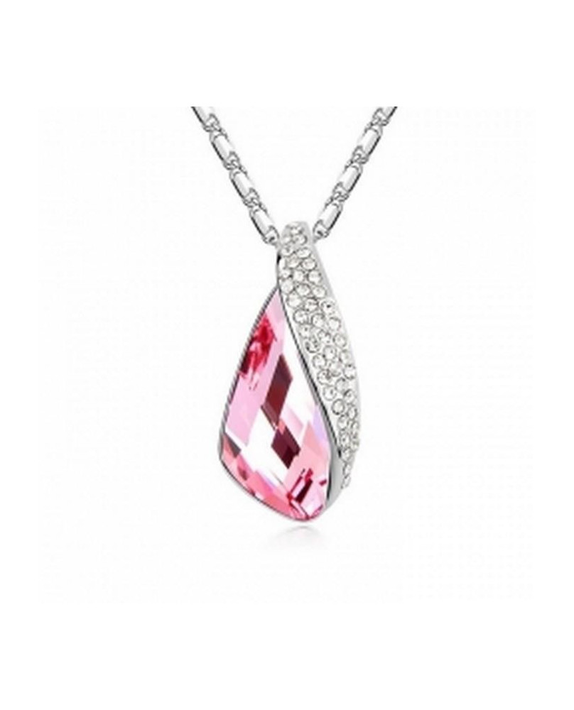 Pendentif cristal rose