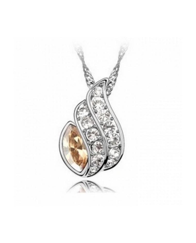 Pendentif plaqué or et cristal Ambre