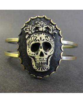Bracelet camé sugar skull