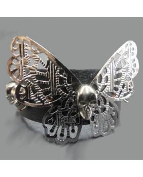 Bracelet cuir Papillon