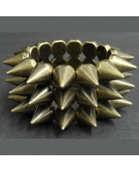 Bracelet élastique bronze