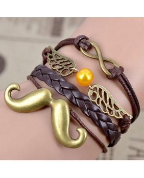 Bracelet fantaisie avec moustache