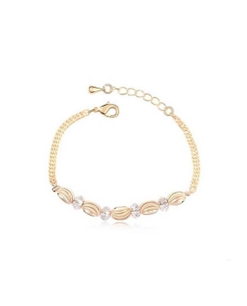 Bracelet fantaisie or jaune
