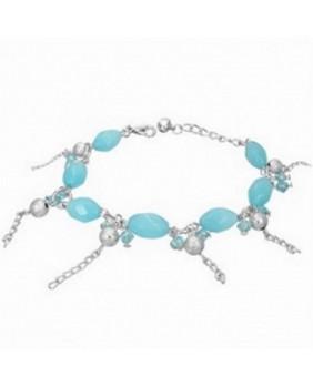 Bracelet fantaisie perles bleues