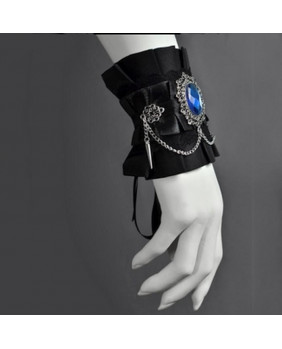 Bracelet gothique camé bleu