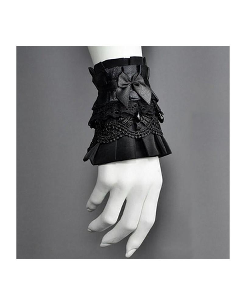 Bracelet gothique ruban noir