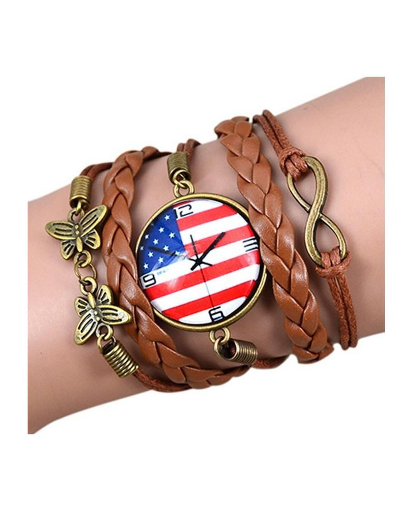 Bracelet Steampunk marron et bronze