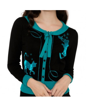 Cardigan Pin Up avec chats