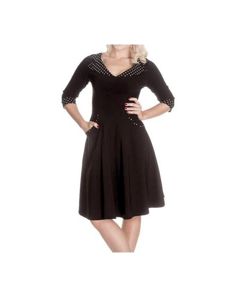 Robe rétro noire Rona