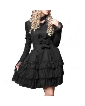 Robe gothique noire Dark Ribbon