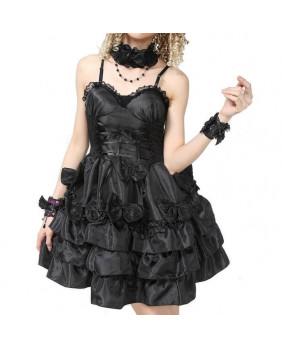 Robe gothique organza noir