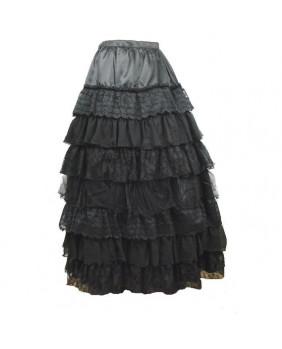 Jupe crinoline romantique noire