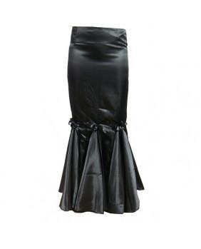 Jupe gothique satin Black Panel