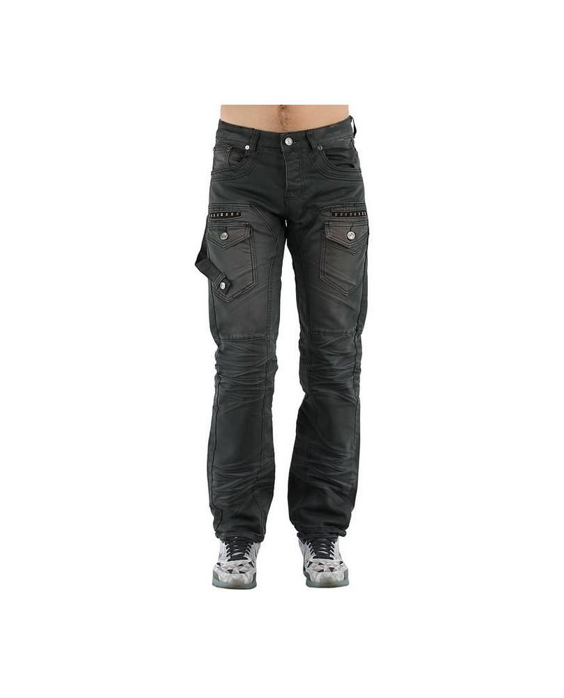 Jeans rock gris délavé