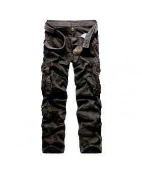 Pantalon cargo camouflage noir
