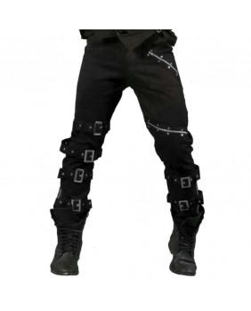 Pantalon gothique homme zips et boucles