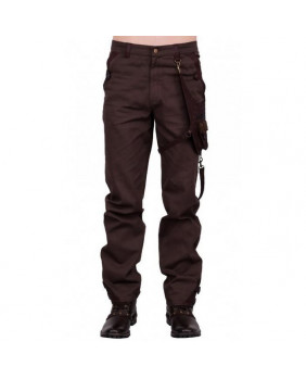 Pantalon steampunk marron