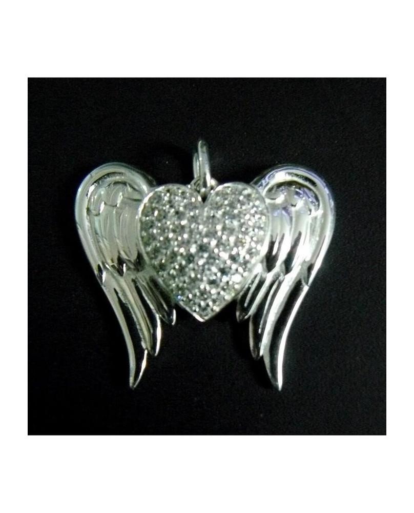 Pendentif gothique Coeur d'ange