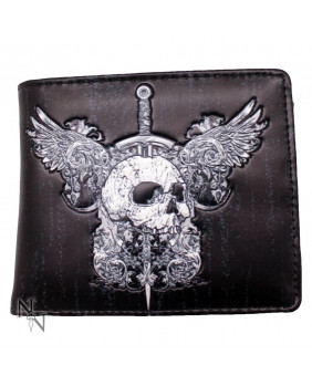 Portefeuille rock Skull & Wing
