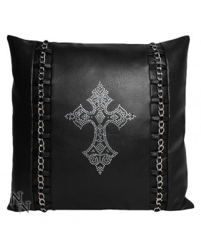 Coussin Rock Diamante Cross