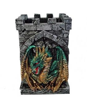 Dragon vert gardien de crayons