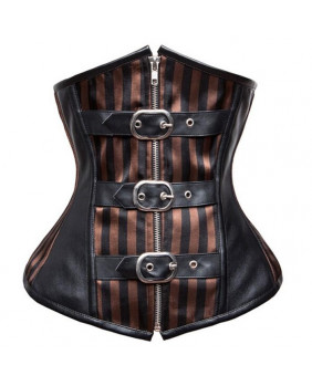 Serre taille steampunk rayé