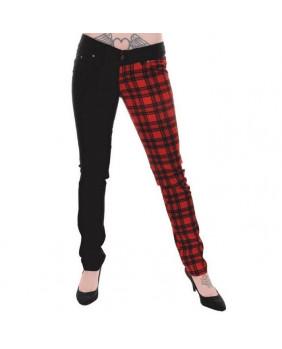 Pantalon carreaux rouge et noir