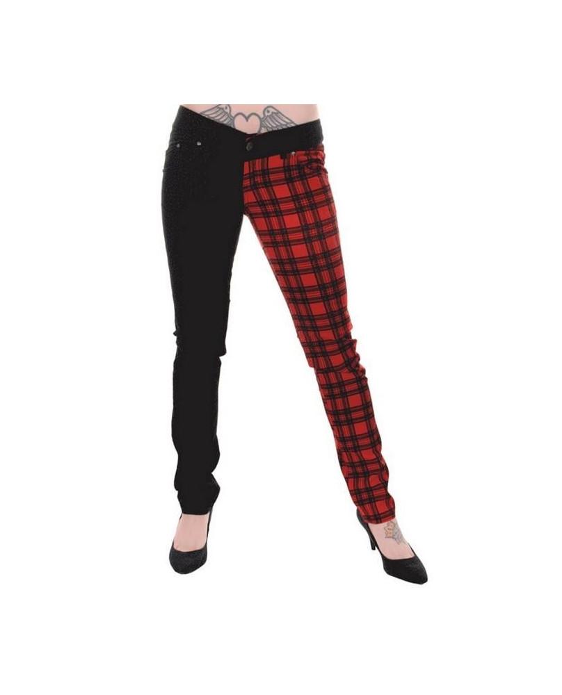 Pantalon carreaux rouge et noir for Veste a carreaux rouge et noir