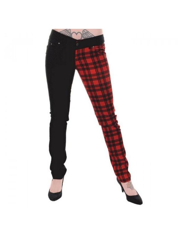 pantalon carreaux rouge et noir. Black Bedroom Furniture Sets. Home Design Ideas