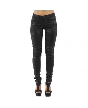 Pantalon noir à reflets