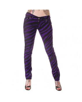 Pantalon zébré violet