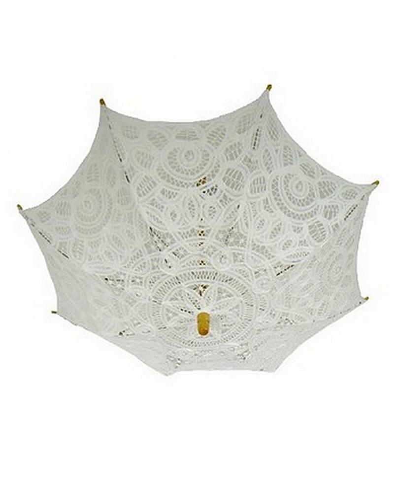 Mini ombrelles gothique blanche