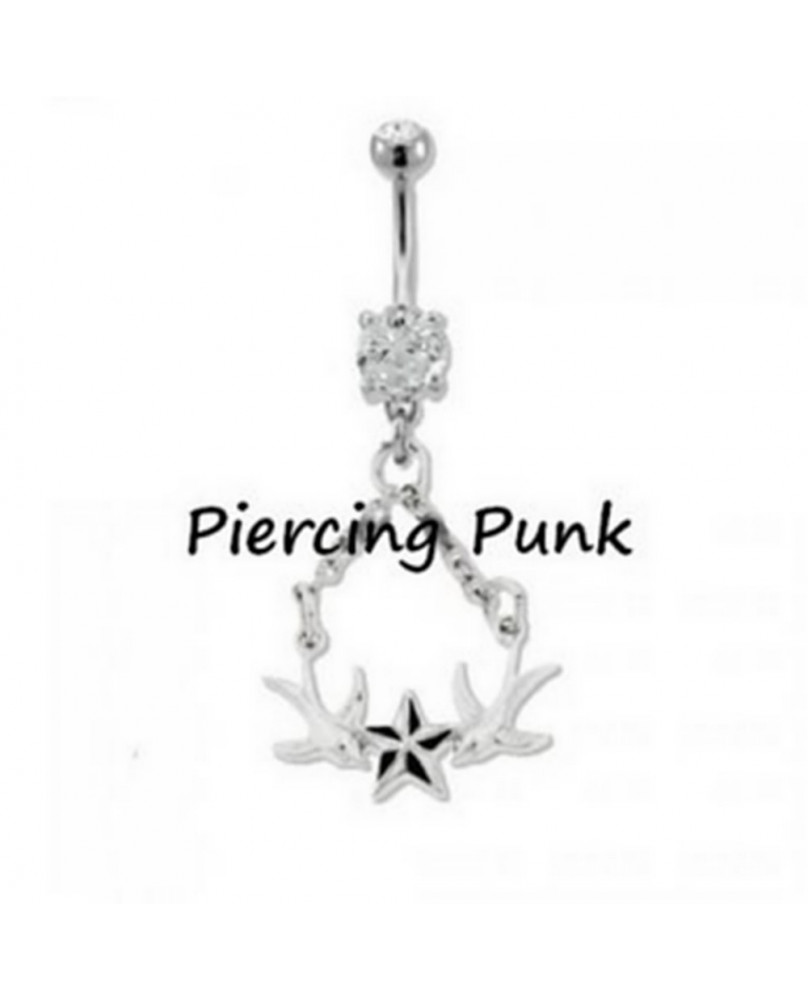 Piercing punk Silver Swallow
