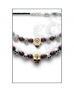 Collier Death skull beads