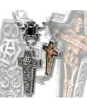 Collier goth Infinity Cross Casket