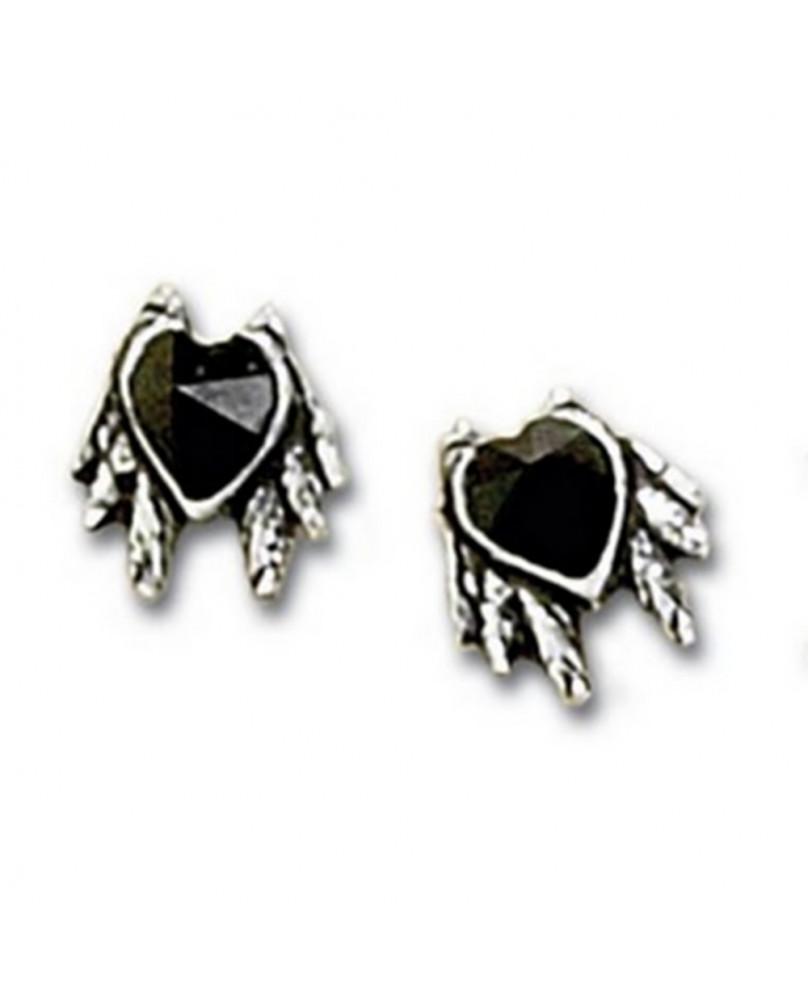 Boucles d'oreille Black Heart Studs