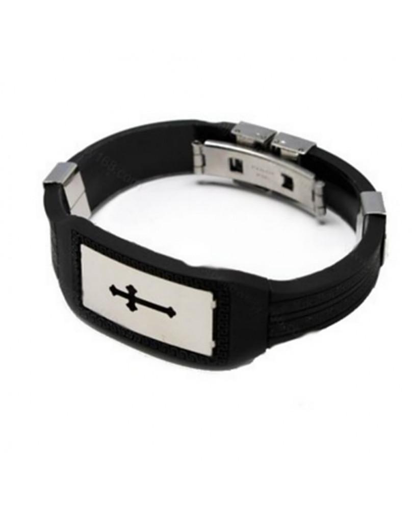 Bracelet gothique rubber cross