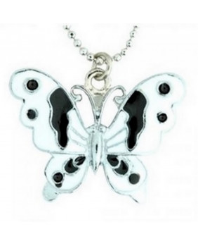 Pendentif papillon blanc