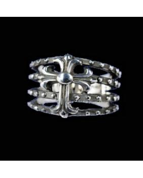 Bague gothique argent croix MSR020