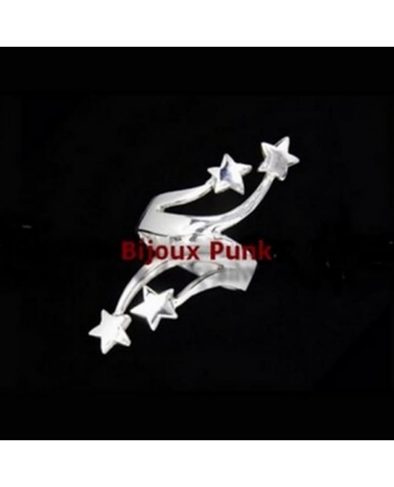 Bague punk Multi stars