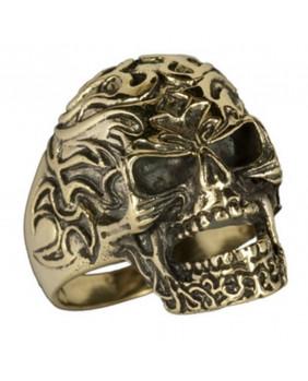 Bague tribal skull bronze