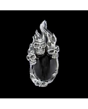 Tête de Mort gothique en argent MSP020