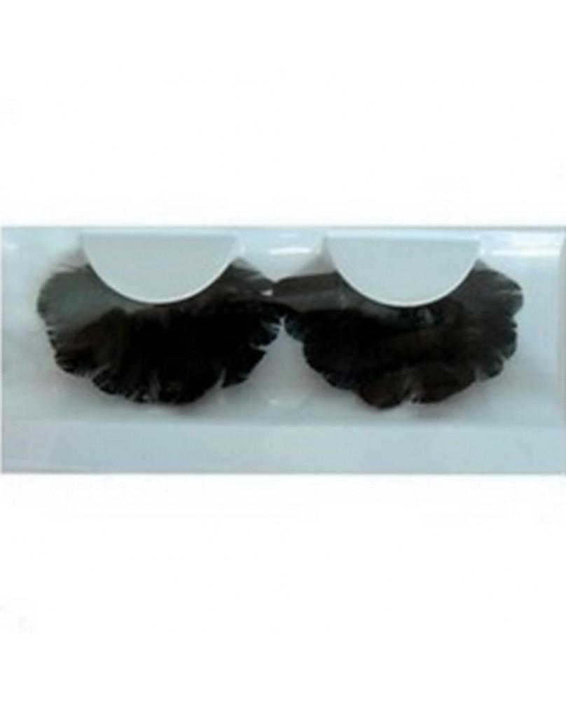 Faux cils gothique plumes noirs