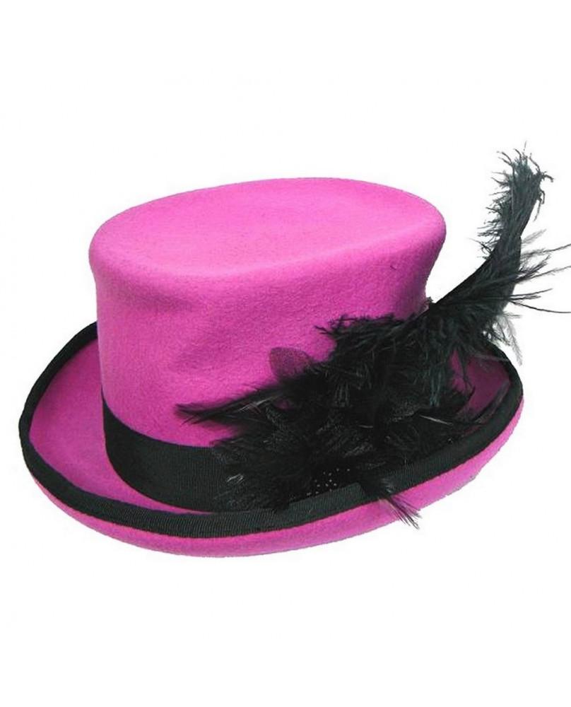 Chapeau rose et noir gothic