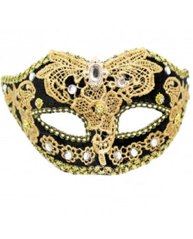 Masque gothique Black Gold