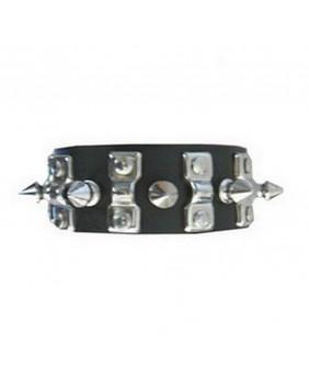 Bracelet cuir gothique BC210