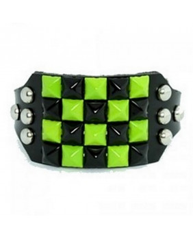 "Bracelet punk rock "" C green """